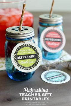Refreshing Teacher Gift Ideas plus Free Printables on Capturing-Joy.com!