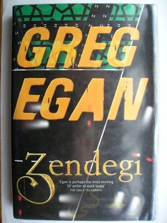 """The novel """"Zendegi"""" by Greg Egan was published for the first time in 2010. Cover illustration by Greg Egan. Click to read the review to the novel!"""