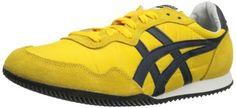 Onitsuka Tiger Serrano Fashion Sneaker D109L.0450 Lace-Up,Yellow/Navy,13 M US  #ASICS #Shoes
