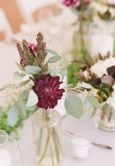 Bridal Shower Centerpieces, Simple Centerpieces, Wedding Flower Arrangements, Wedding Centerpieces, Wedding Flowers, Vase Arrangements, Black Tie Wedding Guest Dress, Black Tie Wedding Guests, Fall Wedding