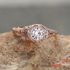 http://rubies.work/1013-citrine/ Wedding – Moissanite Solitaire Antique Round Filigree Engagement Ring .5ct 5mm 14k 18k White Yellow