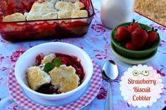 Mommy's Kitchen - Recipes From my Texas Kitchen!: Stawberry Biscuit Cobbler #SavetheBiscuit
