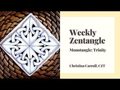 I wanted to get some practice with the tangle Trinity by Stephanie Kiefhaber, CZT, so I decided to practice with a monotangle tile. I think I'll try it with . Zentangle Patterns, Tutorials, Youtube, Cards, Maps, Zentangle, Playing Cards, Youtubers, Youtube Movies