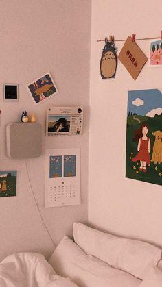 Pin By Nah On Residence Room Decor Aesthetic Rooms Bed room Artwork My New Room, My Room, Dorm Room, Bedroom Art, Diy Bedroom Decor, Home Decor, Bedroom Ideas, Bedroom Wallpaper, Bedroom Inspo