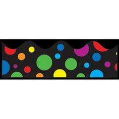 Big Rainbow Dots Scalloped Border, CD-1255