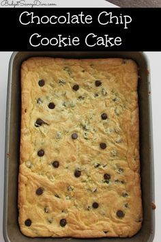 It taste like a chocolate chip cookie and cake TOGETHER!!!! Super easy to make even the kids can do it! Done in under 25 minutes