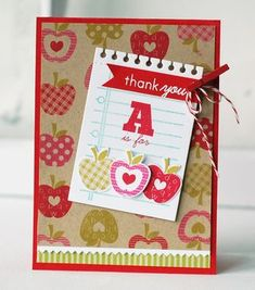 A Is For Apple Card by Betsy Veldman for Papertrey Ink (June 2013)