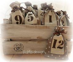 Weihnachten, Adventskalender, Säckchen, Nähen, Plotten