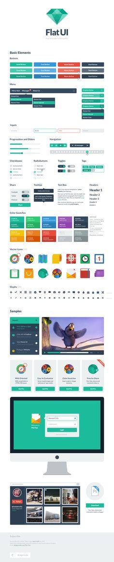 Flat UI Free – PSD User Interface Kit