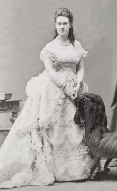 """HGDH THE PRINCESS MARIA OF MECKLENBURG-SCHWERIN, LATER HIH THE GRAND DUCHESS MARIA PAVLOVNA """"THE ELDER"""" OF RUSSIA, aka. """"MIECHEN"""" by the lost gallery  <br /><i>Via Flickr:</i> <br />HIH GD WLADIMIR OF RUSSIA."""
