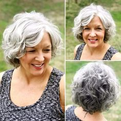 Thick Curly Haircuts, Thin Curly Hair, Short Hairstyles Over 50, Mom Hairstyles, Haircut For Thick Hair, Short Hair Cuts, Curly Hair Styles, Love Hair, Great Hair