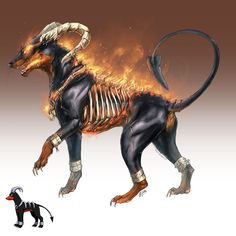 Houndoom looks scary...