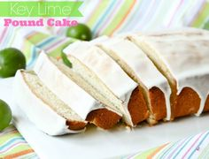 Key Lime Pound Cake with Lime Glaze -- SO GOOD!!  Perfect Spring/Easter Dessert