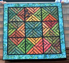 Fractured Paint Box, Quiltworx.com, Made by CI Judy Bowers.