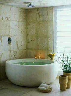 this tub.   #bathroom #luxury