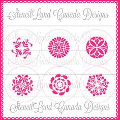 circular designs cookie cupcake stencils cake от Stenciland