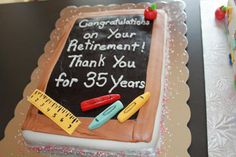 Retirement cake for teachers