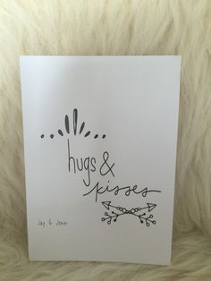 Jay & Jenn card  hugs & Kisses Card, decoratie, kinderkamer