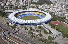 The Maracana Stadium, the venue of the opening and closing ceremonies and soccer games.