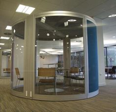 UCLan Study Pod  Free standing 'study pod' at the refurbished UCLan Library