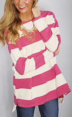 nautical stripes sweater - pink