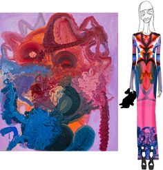 Norwegian artist Bjarne Melgaard's painting used by Prozena Schouler on an evening gown for large dolls. December 22, Proenza Schouler, Ny Times, Buy Art, Fashion Art, Contemporary Art, Illustration Art, Drawings, Artist