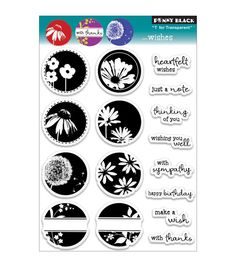 Penny Black Transparent Clear Stamp Sheet Wishes