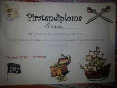 Na afloop van het feestje krijgen alle kinderen een echt piratendiploma!