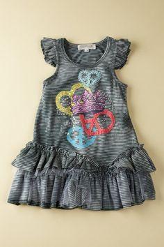 Hannah Banana & Baby Sara  Baby Sara Peace Love Dress