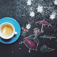 """[Supercalifragilistichespiralidoso] """"In every job that must be done, there is an element of fun. You find the fun, and - SNAP - the job's a game!""""  At least we can try. Good morning friends! #littlecoffeestories"""
