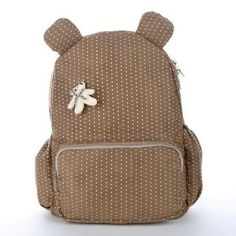 c0b56187025c9 Simple   Sweet Polka Dot Bear Quality Canvas Children s Backpack 3 Colors  Schöne Hintern