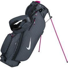 Black / Silver / Fireberry Nike Ladies Sport Lite Carry Stand P Golf Bag at #LorisGolfShoppe