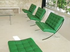 villa tugendhat with barcelona chair, brno, czech rep.