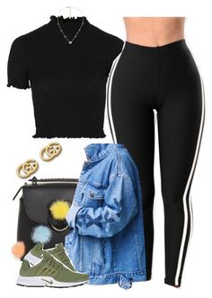 """""""Untitled #1069"""" by cjasmyne ❤ liked on Polyvore featuring Fendi, Topshop, NIKE and Gucci"""