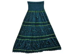 Maxi Skirt Teal Blue Ari Embroidered Lace Work Crinkled Skirts for Womens #mogulinteriordesigns @ http://www.amazon.com/dp/B00JN6K7Z0