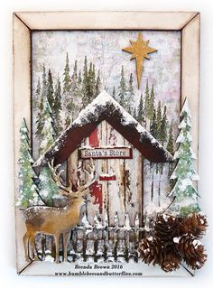 Winter Magic Mixed Media by Brenda Brown #decoartprojects