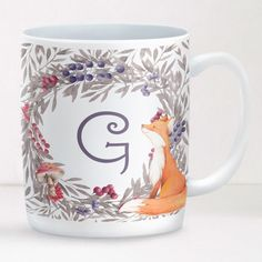 Personalised Mug Woodland Fox Design With stunning graphics, this mug is fully personalised and will make a lovely present for all ages and occasions. £12.95