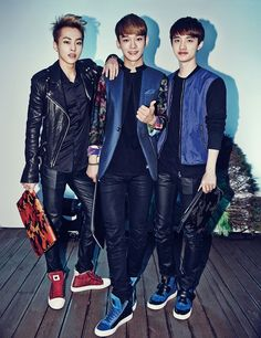 Xiumin, Chen, and D.O. - Harper's Bazaar August issue #exo