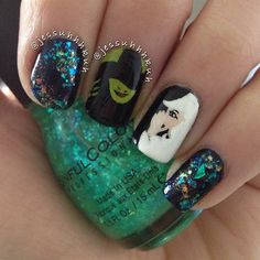 Nail art inspired by wicked the musical my life in turquoise wicked by jessuhhhkuh nail nails nailart prinsesfo Image collections