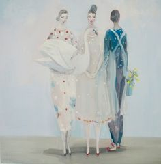 """""""Always Something"""" by Kristin Vestgard, oil on canvas 60 x Figure Painting, Painting & Drawing, Kunst Online, Drawing School, Collage Illustration, Museum, Art Studies, Whimsical Art, Figurative Art"""