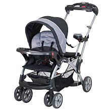 Baby Trend Sit N Stand Ultra Stroller - Granite. Best double stroller hands down!!! I love how you can put the infant carseat in the front or the back. It also can fit Graco carseats :)