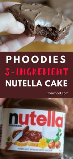 This 3 Ingredient Nutella Chocolate Cake has been an Internet smash and you will love this moist and delicious treat. Watch the video tutorial too. Nutella Fudge, 3 Ingredient Nutella Brownies, Nutella Chocolate Cake, Nutella Mousse, Chocolate Cake Recipe Easy, Chocolate Desserts, Easy Cake Recipes, Fudge Recipes, Dessert Recipes