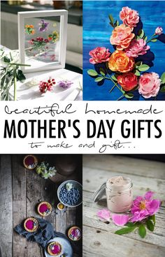 Let mom know how much she means to you this Mother's Day with this beautiful collection of homemade Mother's Day gifts that you can DIY!