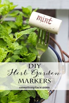 DIY Herb Garden Markers  | Easy Container Gardening | Vegetables and Herbs | Tips for growing a garden in containers. Plant suggestions and more!