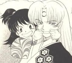 Sesshomaru and Rin. I love those two together.
