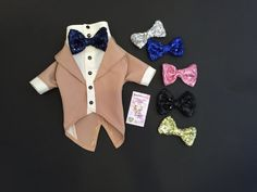 Items similar to Wedding tuxedo for dog with sequins bow Dog wedding attire Dog formal suit Custom made dog tux on Etsy Dog Wedding Attire, Tuxedo Wedding, Wedding Suits, Dog Tuxedo, Cat Sweaters, Boy Dog, Tie Colors, Dog Dresses, Dog Shirt