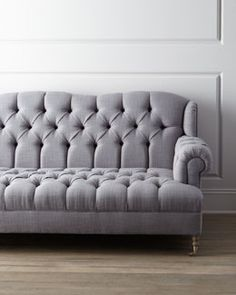 Haute House Malpensa Sofa - you can never go wrong with tufting Sofa Bench, Loveseat Sofa, Chesterfield Sofa, Sofa Chair, Couch, Living Room Seating, Fabric Sofa, Sofa Design, Love Seat