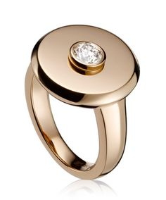 346a91d07 TABBAH -- Beret Icon Ring 18k Rose Gold set with 1 diamond (Ref. BA 3492)