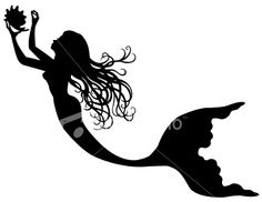 mermaid silhouette from istock