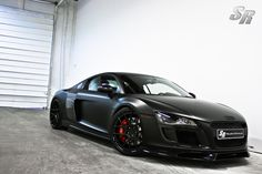 Audi R8 - in love with Audi's matte grey too.